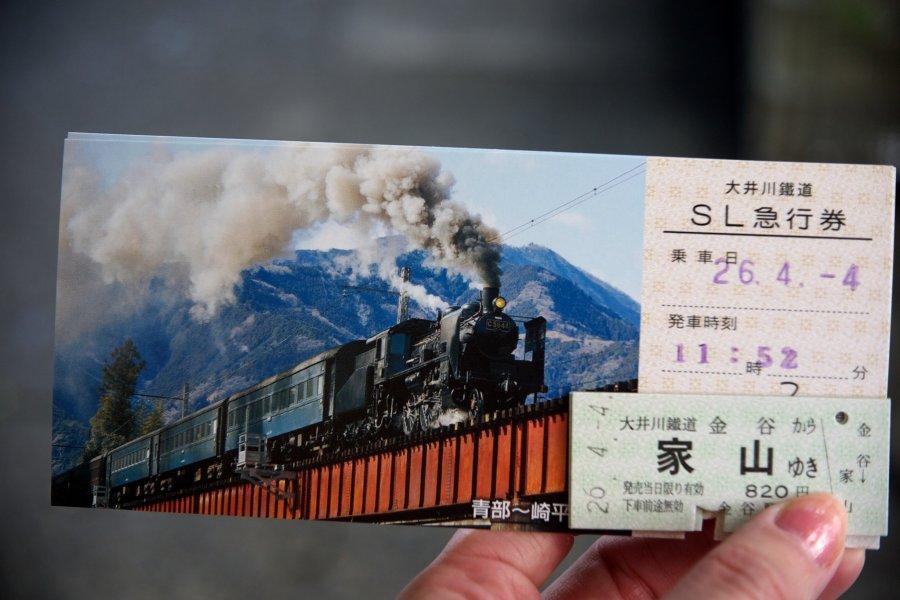 大井川鐵道的櫻花蒸氣SL列車