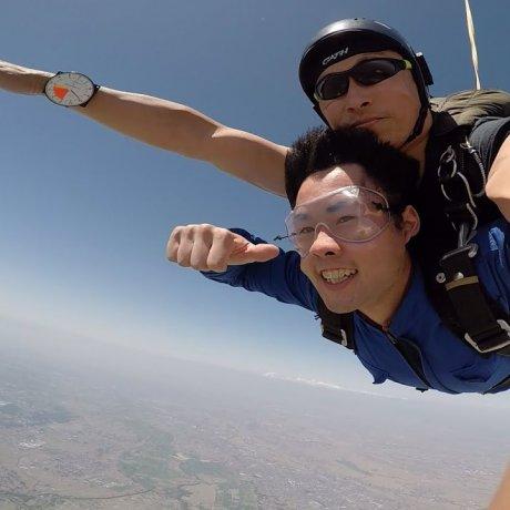 在埼玉縣川島跳傘