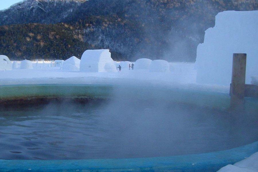 北海道雪見温泉~ 然別湖冰上露天風呂